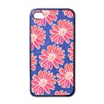 Pink Daisy Pattern Apple iPhone 4 Case (Black) Front