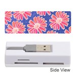 Pink Daisy Pattern Memory Card Reader (Stick)  Front