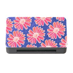 Pink Daisy Pattern Memory Card Reader With Cf