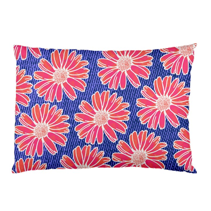 Pink Daisy Pattern Pillow Case (Two Sides)