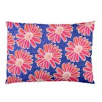 Pink Daisy Pattern Pillow Case (Two Sides) Back