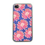 Pink Daisy Pattern Apple iPhone 4 Case (Clear) Front