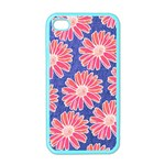 Pink Daisy Pattern Apple iPhone 4 Case (Color) Front