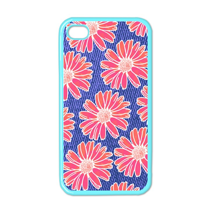Pink Daisy Pattern Apple iPhone 4 Case (Color)