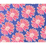 Pink Daisy Pattern Deluxe Canvas 14  x 11  14  x 11  x 1.5  Stretched Canvas