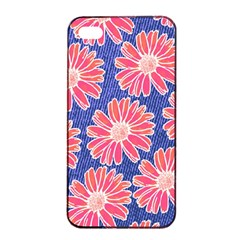 Pink Daisy Pattern Apple iPhone 4/4s Seamless Case (Black)
