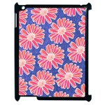 Pink Daisy Pattern Apple iPad 2 Case (Black) Front