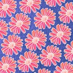 Pink Daisy Pattern SORRY 3D Greeting Card (8x4) Inside