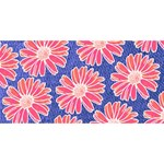 Pink Daisy Pattern Congrats Graduate 3D Greeting Card (8x4) Back