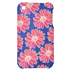 Pink Daisy Pattern Apple iPhone 3G/3GS Hardshell Case