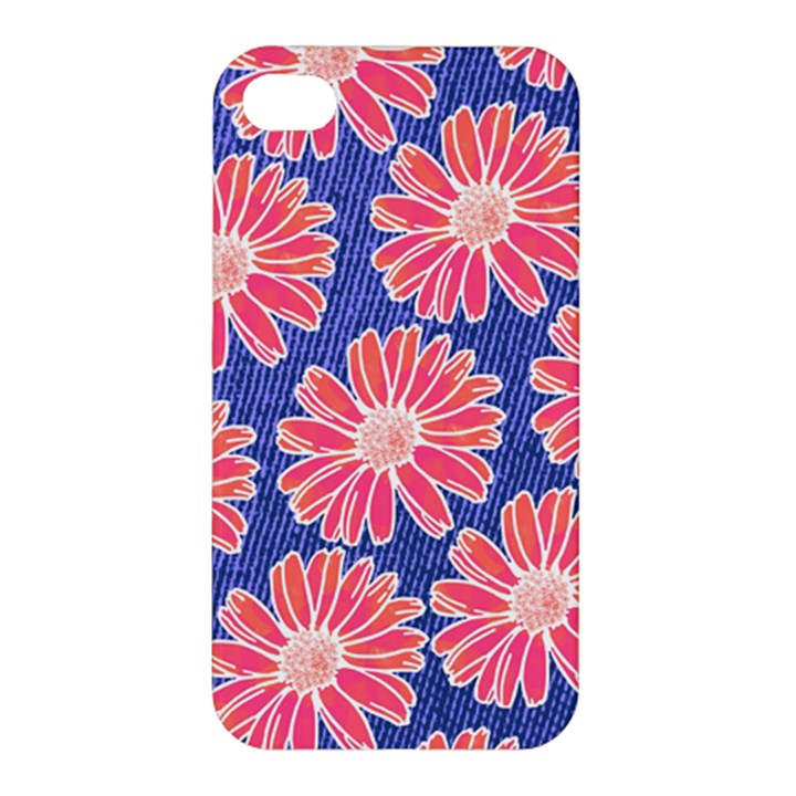 Pink Daisy Pattern Apple iPhone 4/4S Hardshell Case