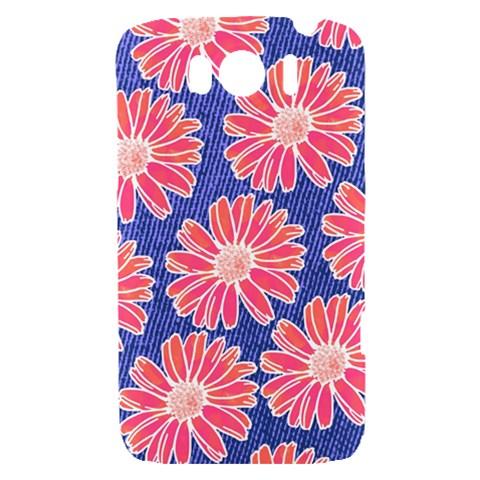 Pink Daisy Pattern HTC Sensation XL Hardshell Case