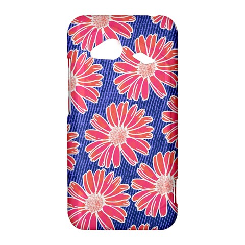 Pink Daisy Pattern HTC Droid Incredible 4G LTE Hardshell Case