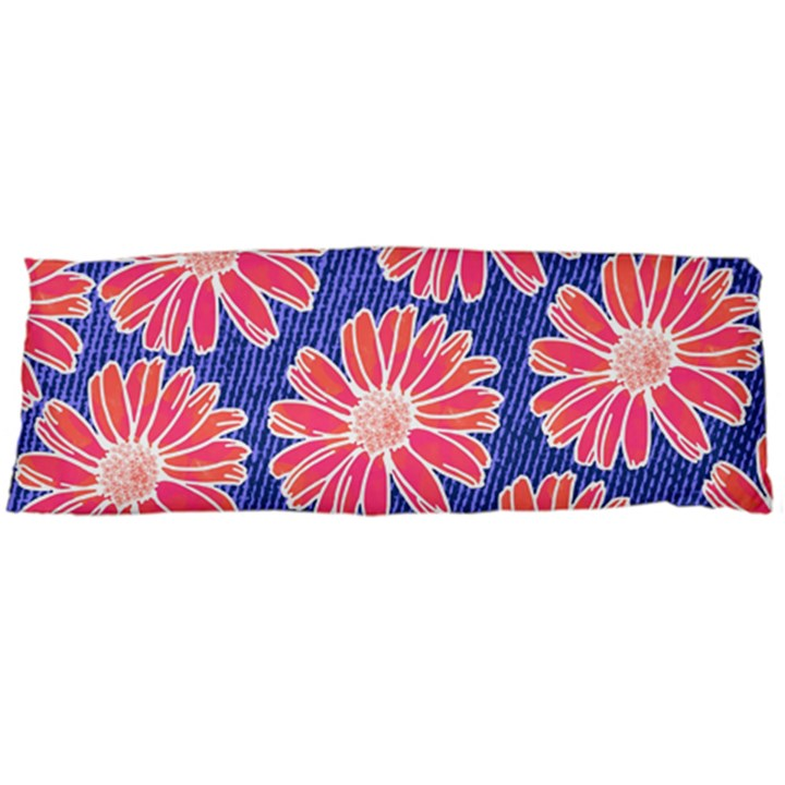 Pink Daisy Pattern Body Pillow Case (Dakimakura)