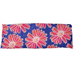 Pink Daisy Pattern Body Pillow Case Dakimakura (two Sides)
