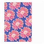 Pink Daisy Pattern Small Garden Flag (Two Sides) Front