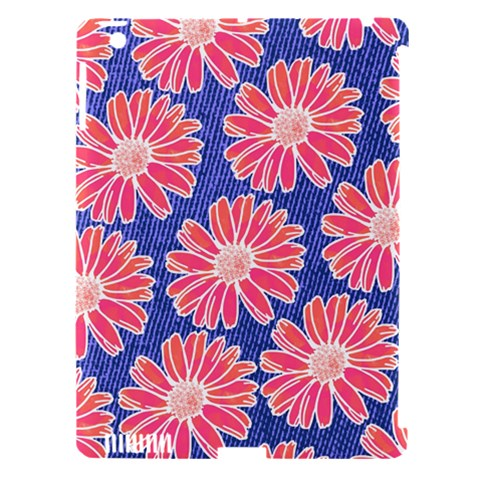 Pink Daisy Pattern Apple iPad 3/4 Hardshell Case (Compatible with Smart Cover)