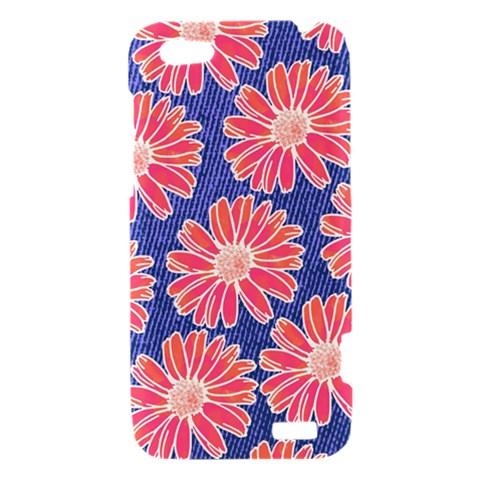 Pink Daisy Pattern HTC One V Hardshell Case