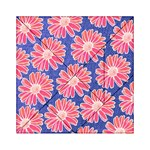 Pink Daisy Pattern Acrylic Tangram Puzzle (6  x 6 ) Front