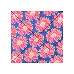 Pink Daisy Pattern Acrylic Tangram Puzzle (4  x 4 ) Front