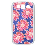 Pink Daisy Pattern Samsung Galaxy S III Case (White) Front