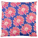 Pink Daisy Pattern Large Cushion Case (Two Sides) Back