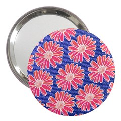 Pink Daisy Pattern 3  Handbag Mirrors