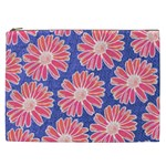 Pink Daisy Pattern Cosmetic Bag (XXL)  Front