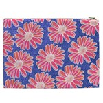 Pink Daisy Pattern Cosmetic Bag (XXL)  Back