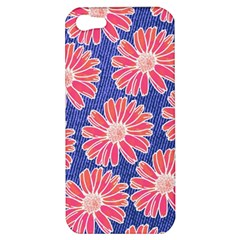 Pink Daisy Pattern Apple iPhone 5 Hardshell Case