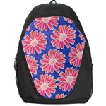 Pink Daisy Pattern Backpack Bag Front