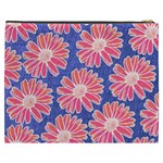 Pink Daisy Pattern Cosmetic Bag (XXXL)  Back
