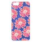 Pink Daisy Pattern Apple iPhone 5 Seamless Case (White) Front