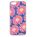 Pink Daisy Pattern Apple Seamless iPhone 5 Case (Clear) Front