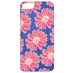 Pink Daisy Pattern Apple iPhone 5 Classic Hardshell Case