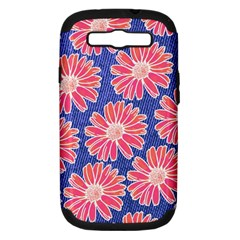 Pink Daisy Pattern Samsung Galaxy S Iii Hardshell Case (pc+silicone)