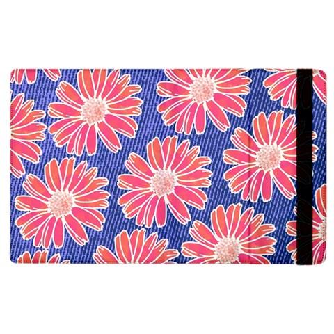 Pink Daisy Pattern Apple iPad 2 Flip Case