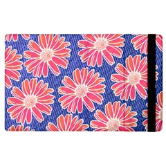 Pink Daisy Pattern Apple Ipad 2 Flip Case