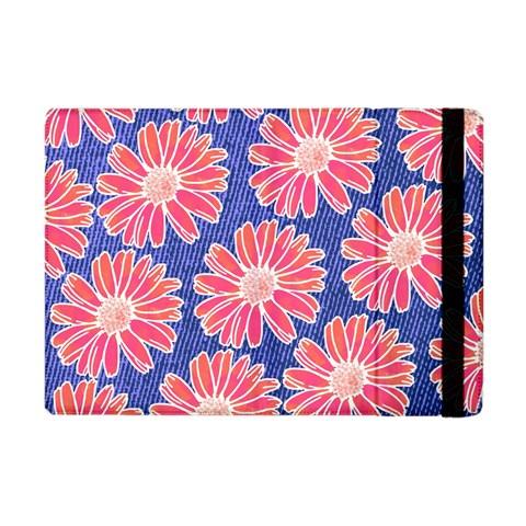Pink Daisy Pattern Apple iPad Mini Flip Case