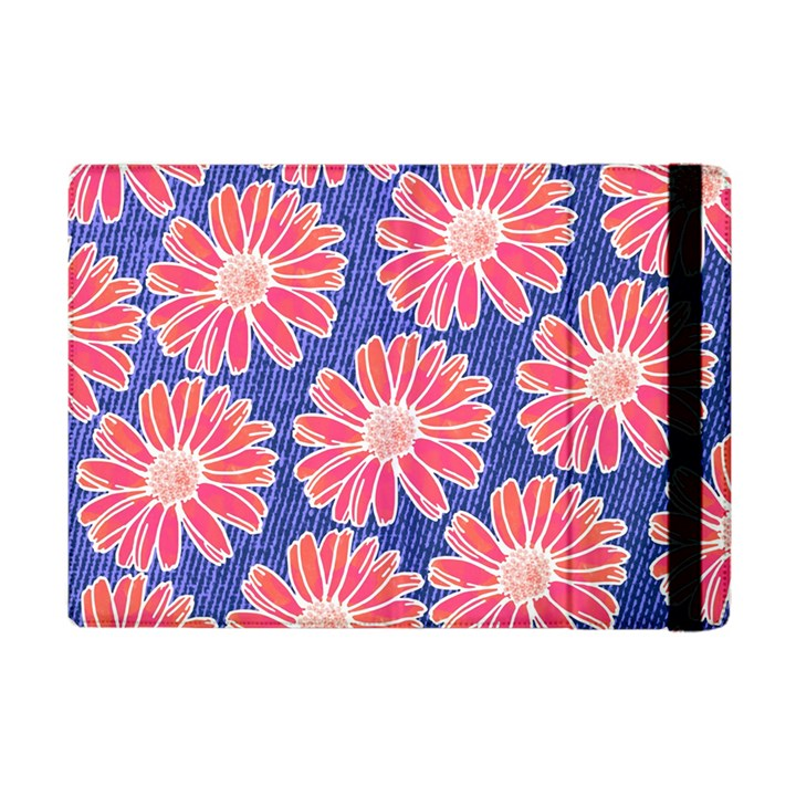 Pink Daisy Pattern Apple iPad Mini Flip Case
