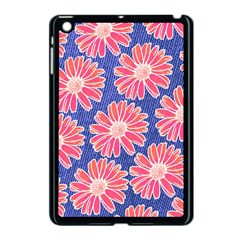 Pink Daisy Pattern Apple iPad Mini Case (Black)
