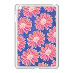 Pink Daisy Pattern Apple iPad Mini Case (White) Front