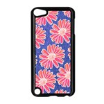 Pink Daisy Pattern Apple iPod Touch 5 Case (Black) Front