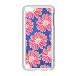 Pink Daisy Pattern Apple iPod Touch 5 Case (White) Front