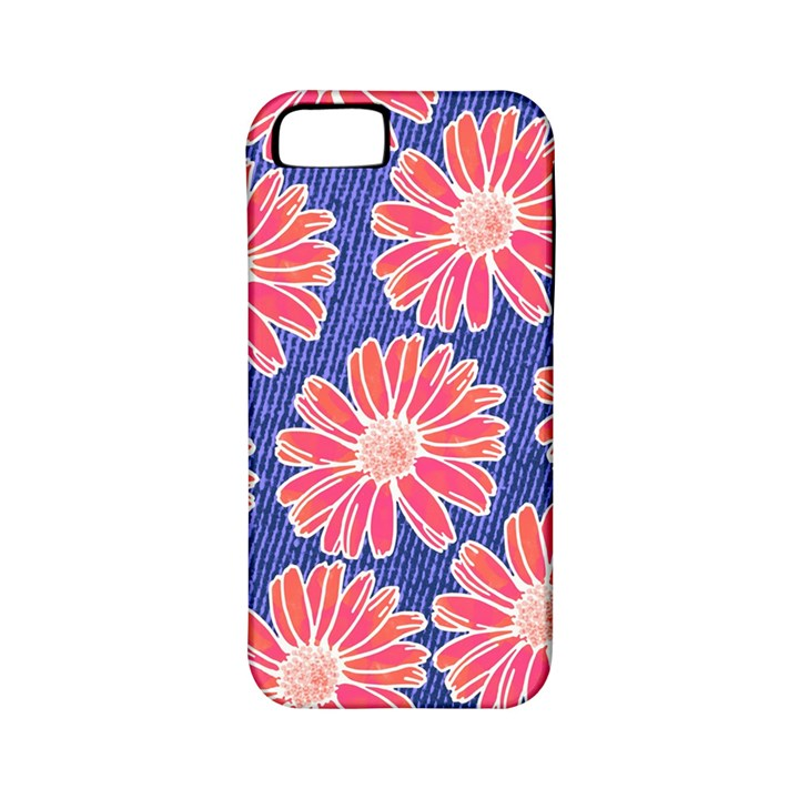 Pink Daisy Pattern Apple iPhone 5 Classic Hardshell Case (PC+Silicone)