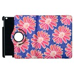Pink Daisy Pattern Apple iPad 2 Flip 360 Case Front