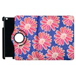 Pink Daisy Pattern Apple iPad 3/4 Flip 360 Case Front