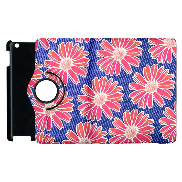 Pink Daisy Pattern Apple iPad 3/4 Flip 360 Case