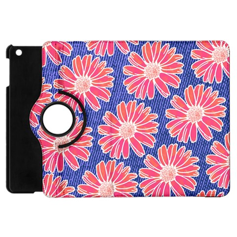 Pink Daisy Pattern Apple iPad Mini Flip 360 Case