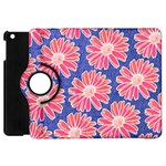 Pink Daisy Pattern Apple iPad Mini Flip 360 Case Front
